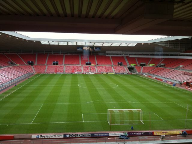 View fron inside the Black Cats bar - Stadium of Light